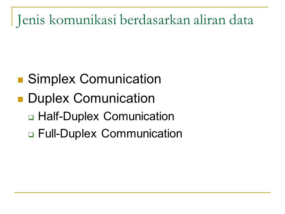 Jenis komunikasi berdasarkan aliran data