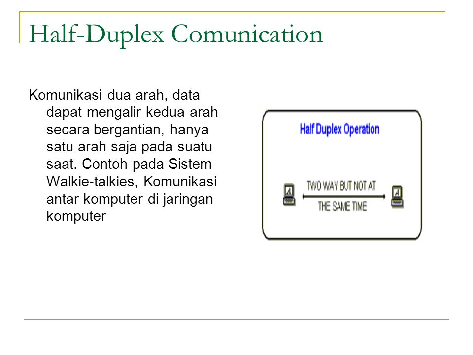 Half-Duplex Comunication