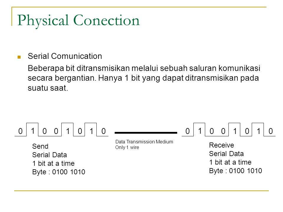 Physical Conection Serial Comunication