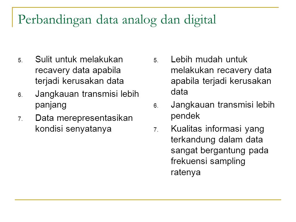 Perbandingan data analog dan digital