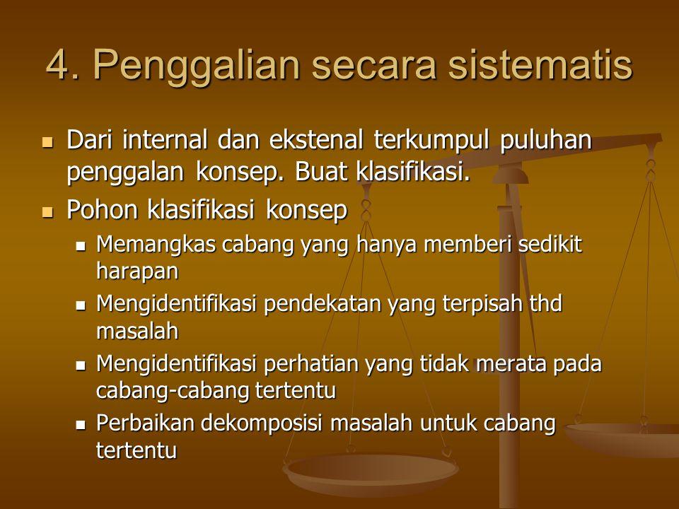 4. Penggalian secara sistematis