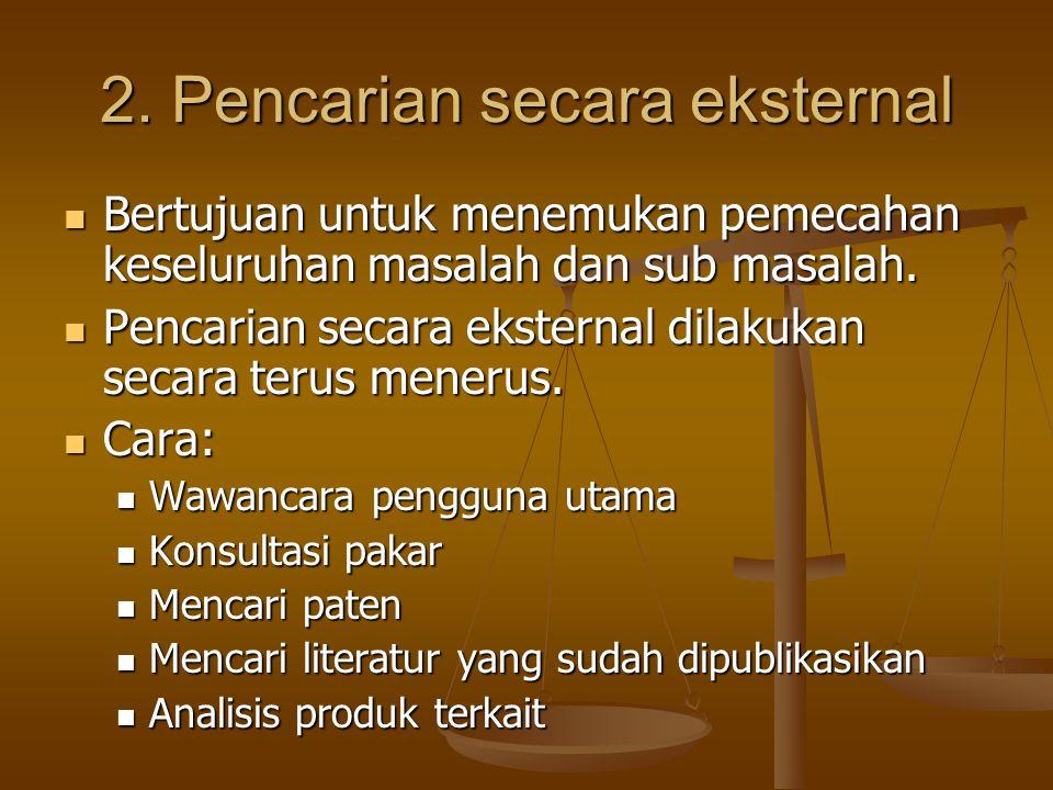 2. Pencarian secara eksternal