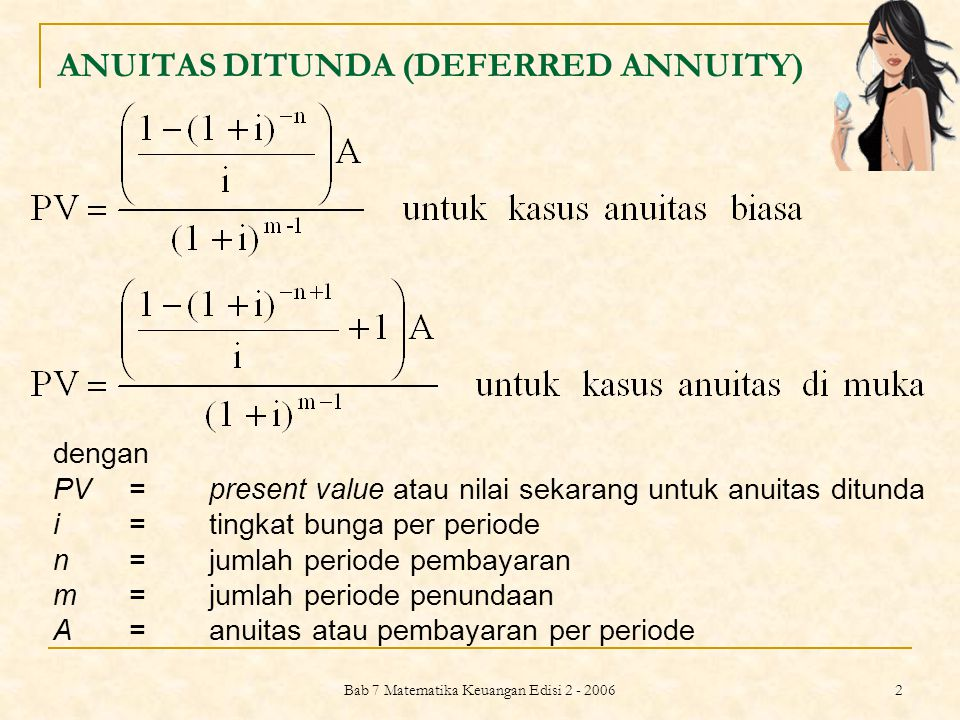 ANUITAS DITUNDA (DEFERRED ANNUITY)