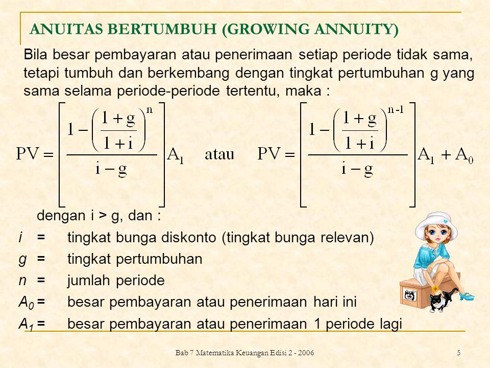 ANUITAS BERTUMBUH (GROWING ANNUITY)