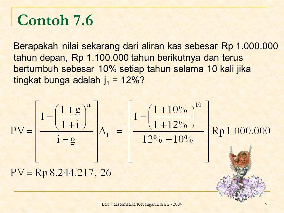Bab 7 Matematika Keuangan Edisi 2 - 2006