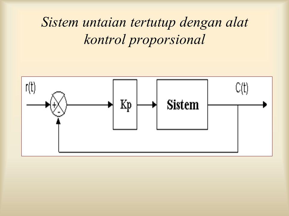 Sistem untaian tertutup dengan alat kontrol proporsional