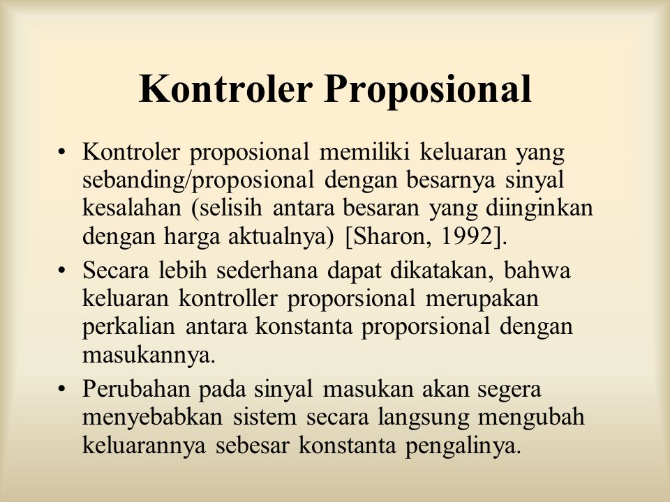 Kontroler Proposional