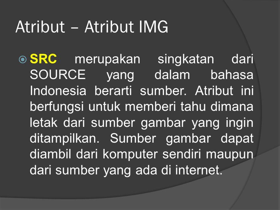Atribut – Atribut IMG