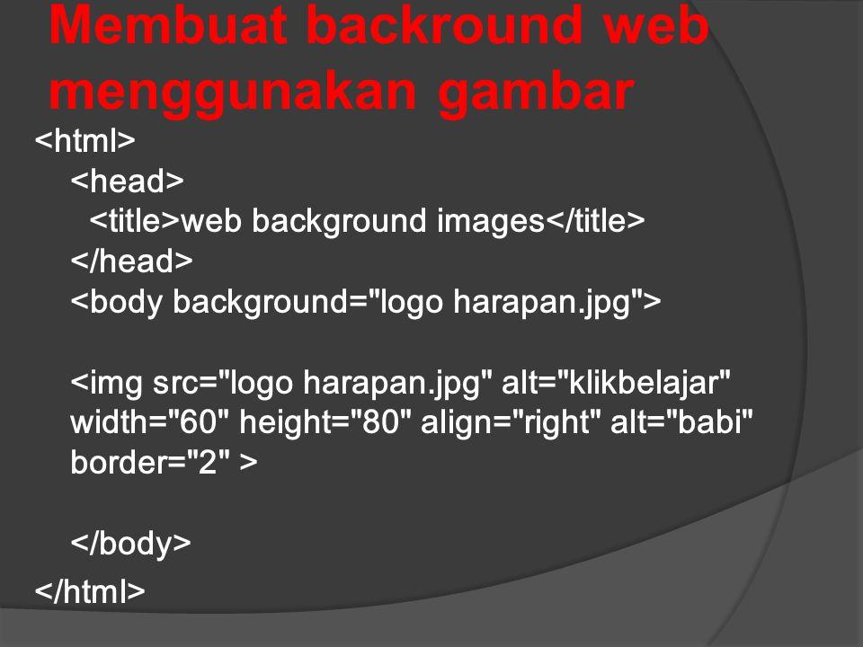 Membuat backround web menggunakan gambar