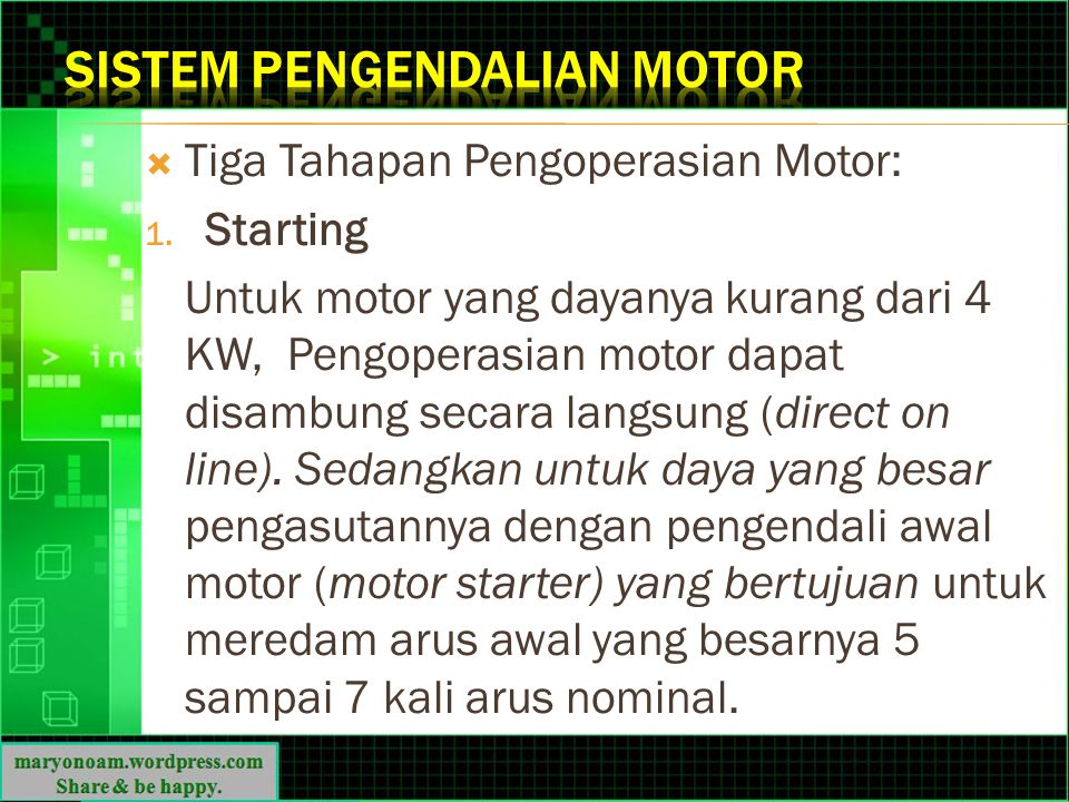 Sistem Pengendalian Motor