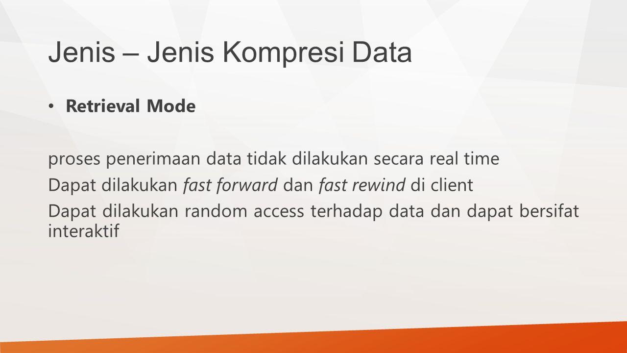 Jenis – Jenis Kompresi Data