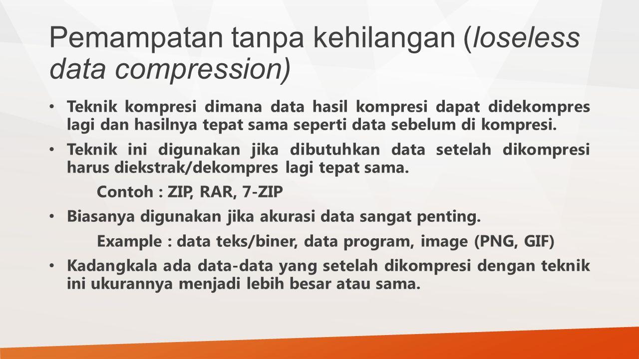 Pemampatan tanpa kehilangan (loseless data compression)