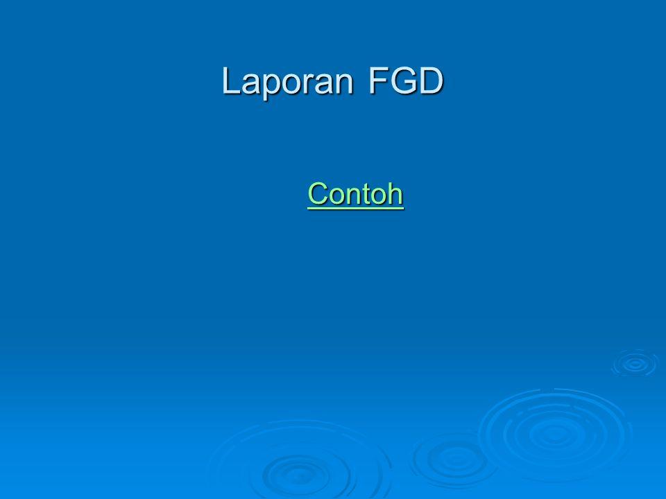 Laporan FGD Contoh