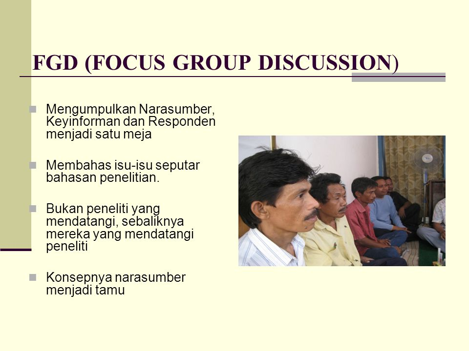 FGD (FOCUS GROUP DISCUSSION)