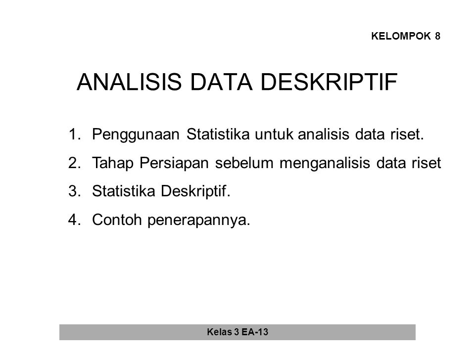 ANALISIS DATA DESKRIPTIF