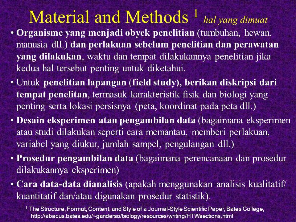 Material and Methods 1 hal yang dimuat