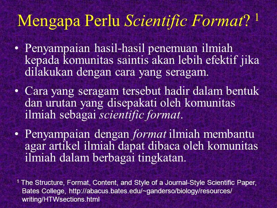 Mengapa Perlu Scientific Format 1