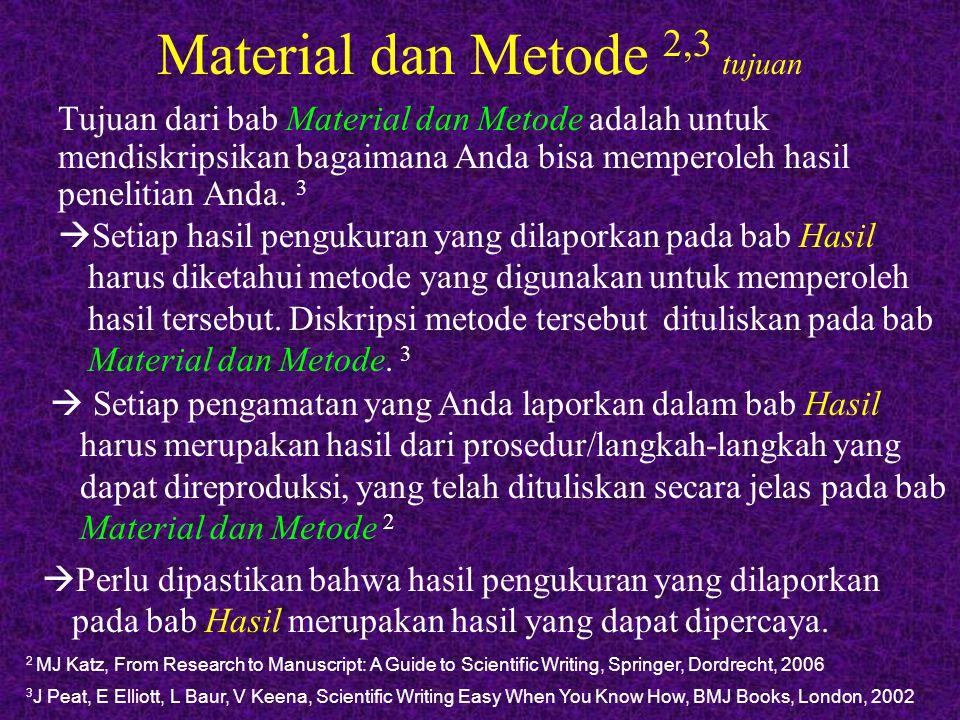 Material dan Metode 2,3 tujuan