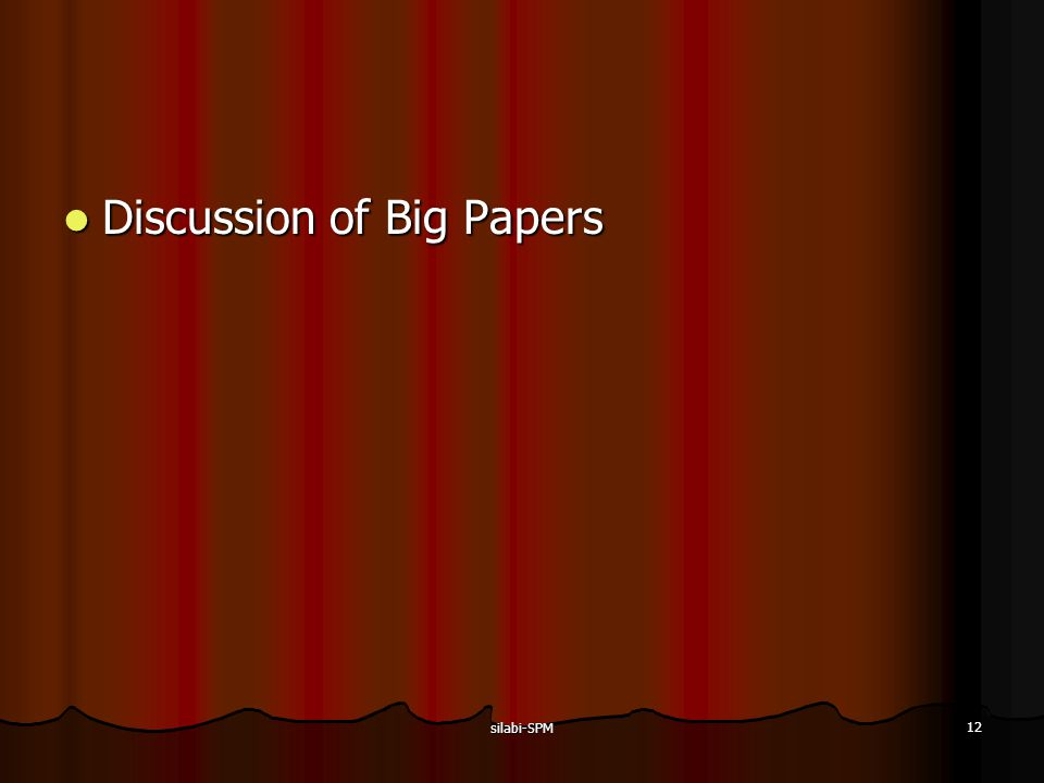 Discussion of Big Papers