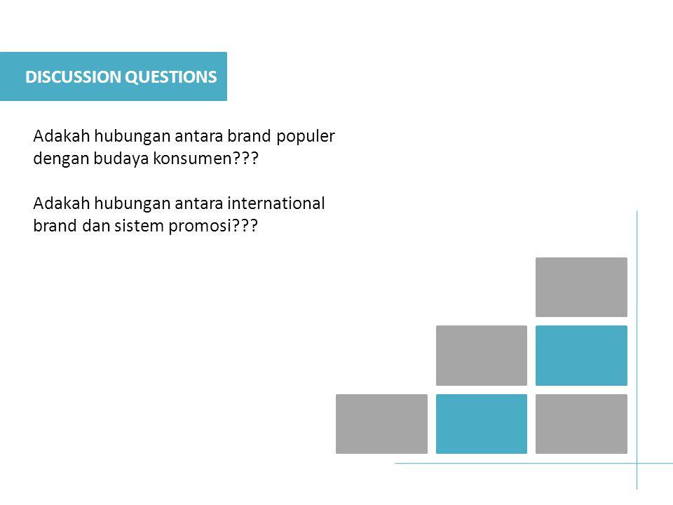 DISCUSSION QUESTIONS Adakah hubungan antara brand populer dengan budaya konsumen .