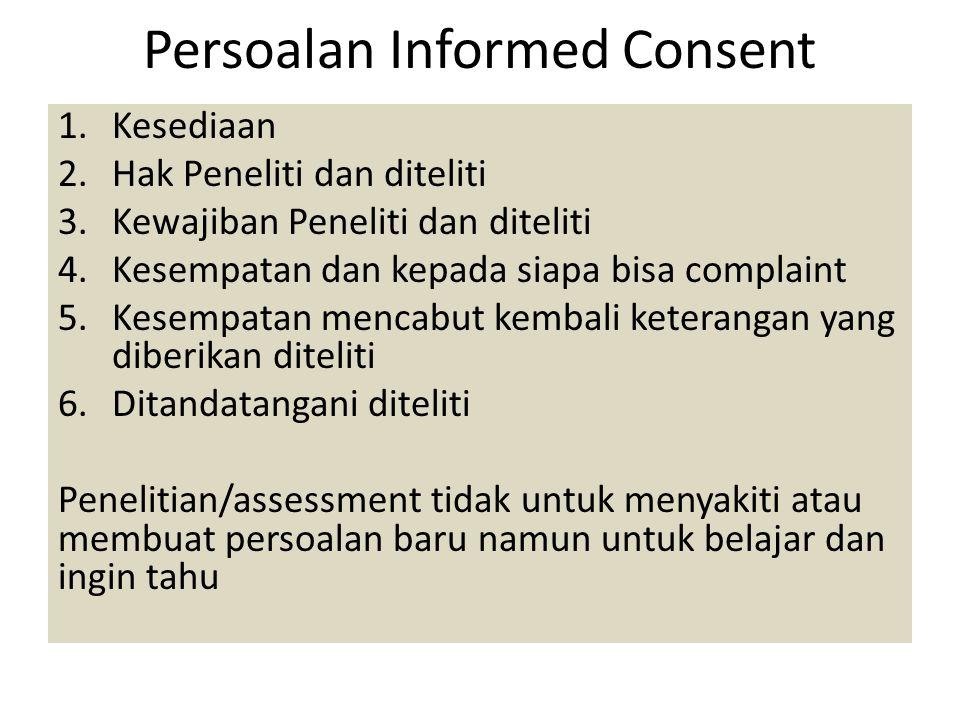 Persoalan Informed Consent