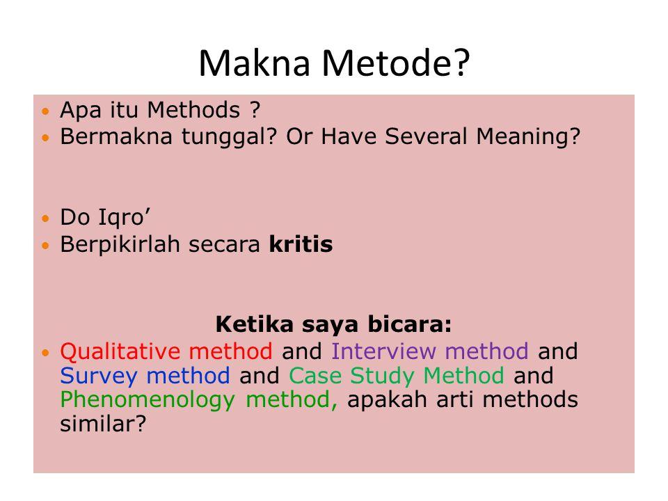 Makna Metode Apa itu Methods