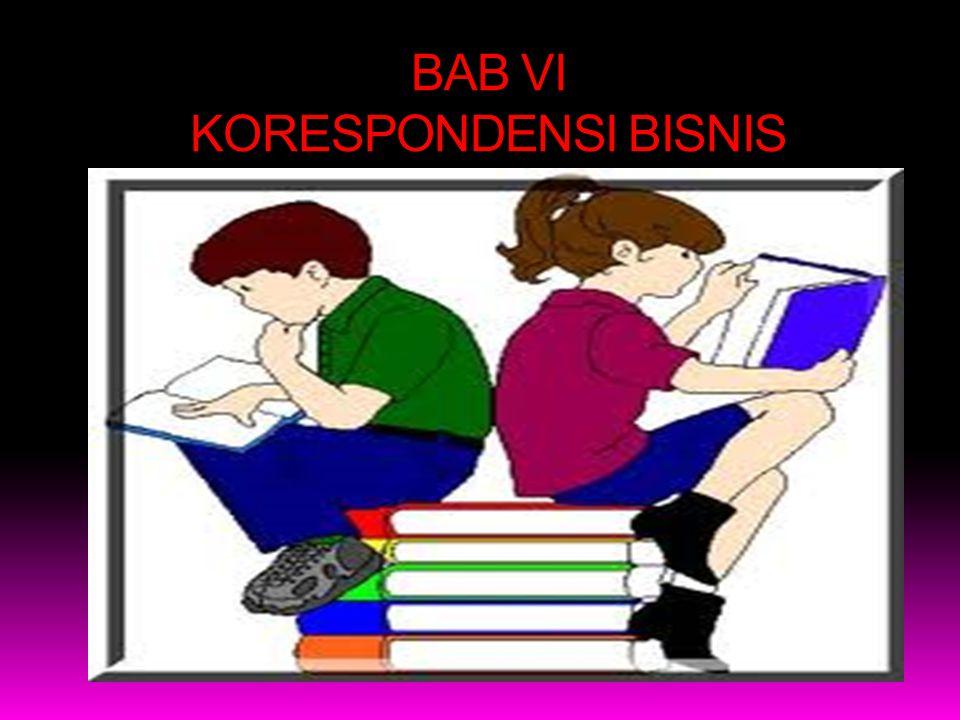 BAB VI KORESPONDENSI BISNIS