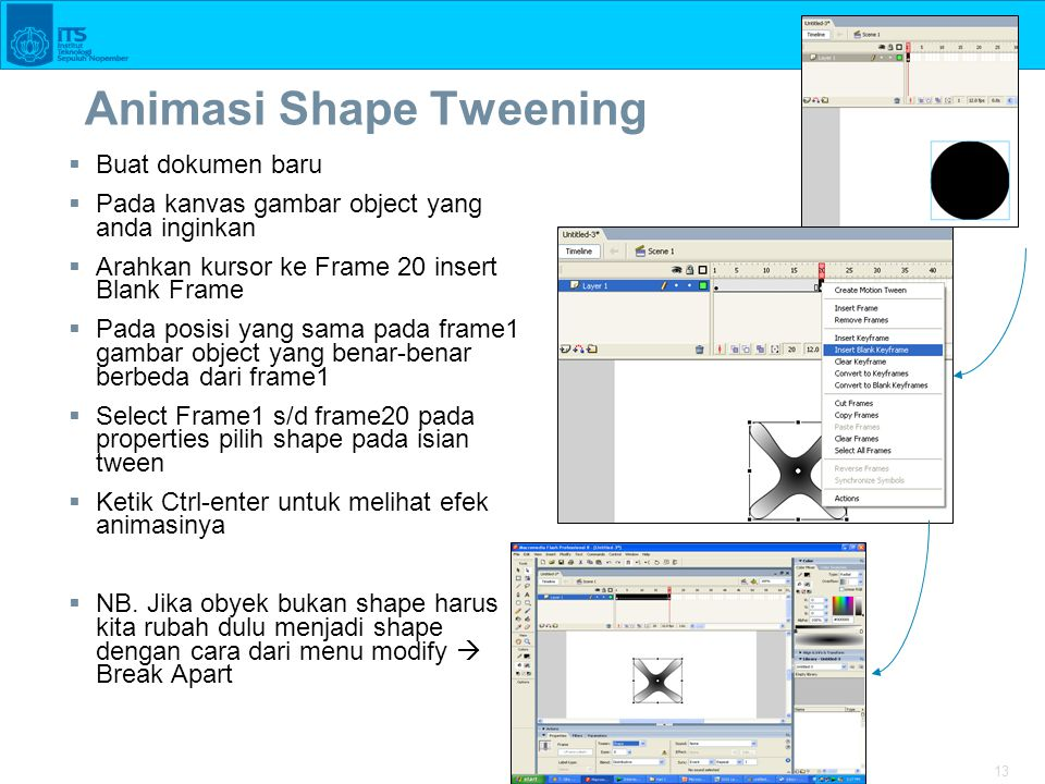 Animasi Shape Tweening