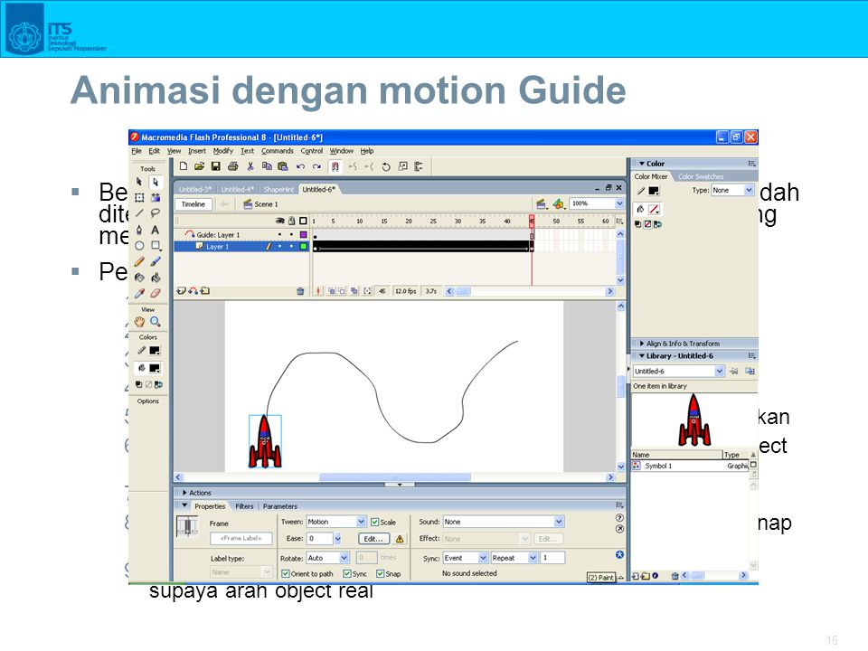 Animasi dengan motion Guide