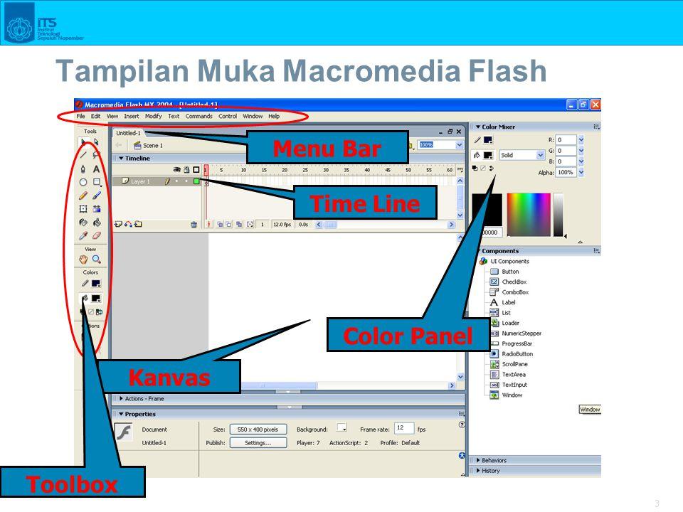 Tampilan Muka Macromedia Flash