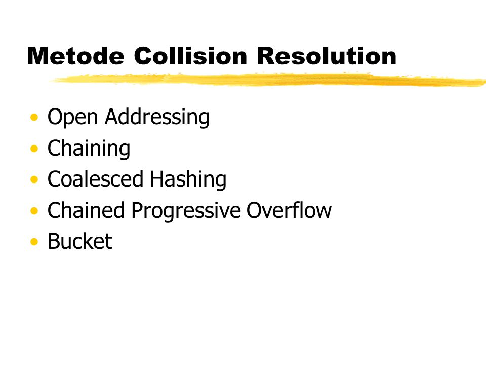 Metode Collision Resolution