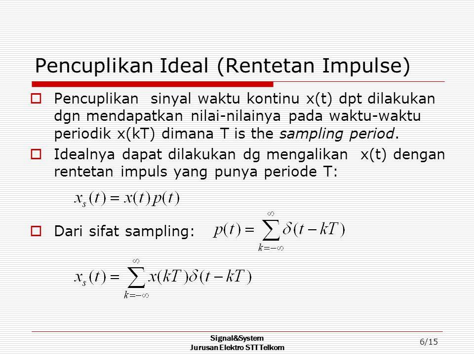 Pencuplikan Ideal (Rentetan Impulse)