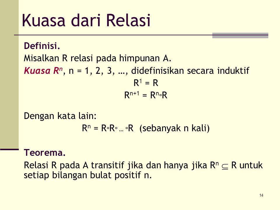 Rn = RR … R (sebanyak n kali)
