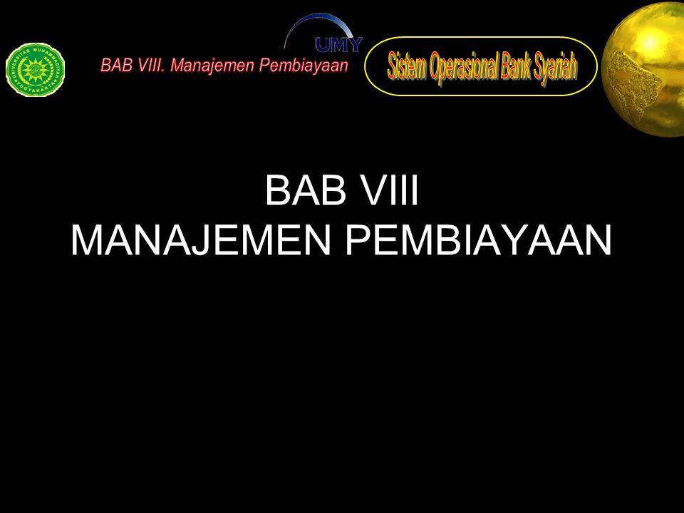 BAB VIII MANAJEMEN PEMBIAYAAN
