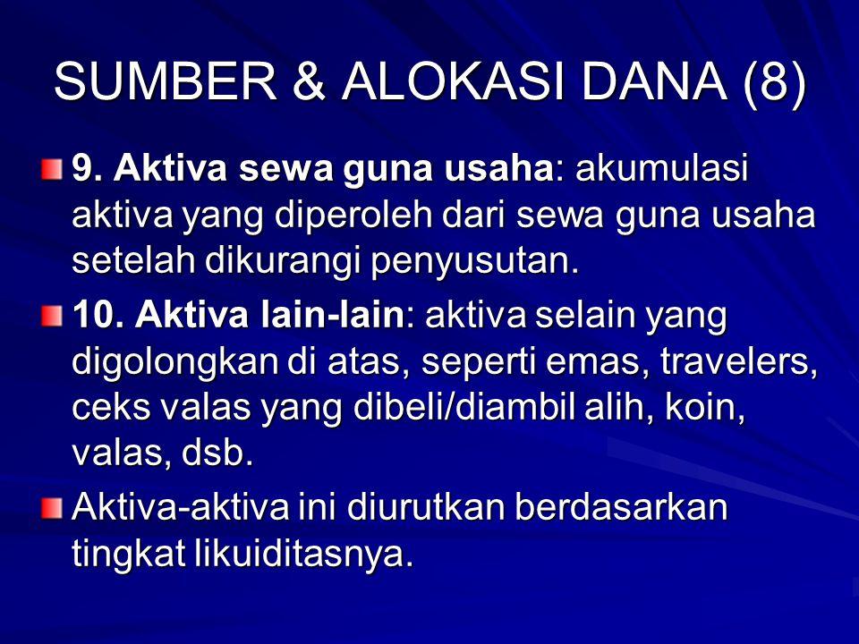 SUMBER & ALOKASI DANA (8)