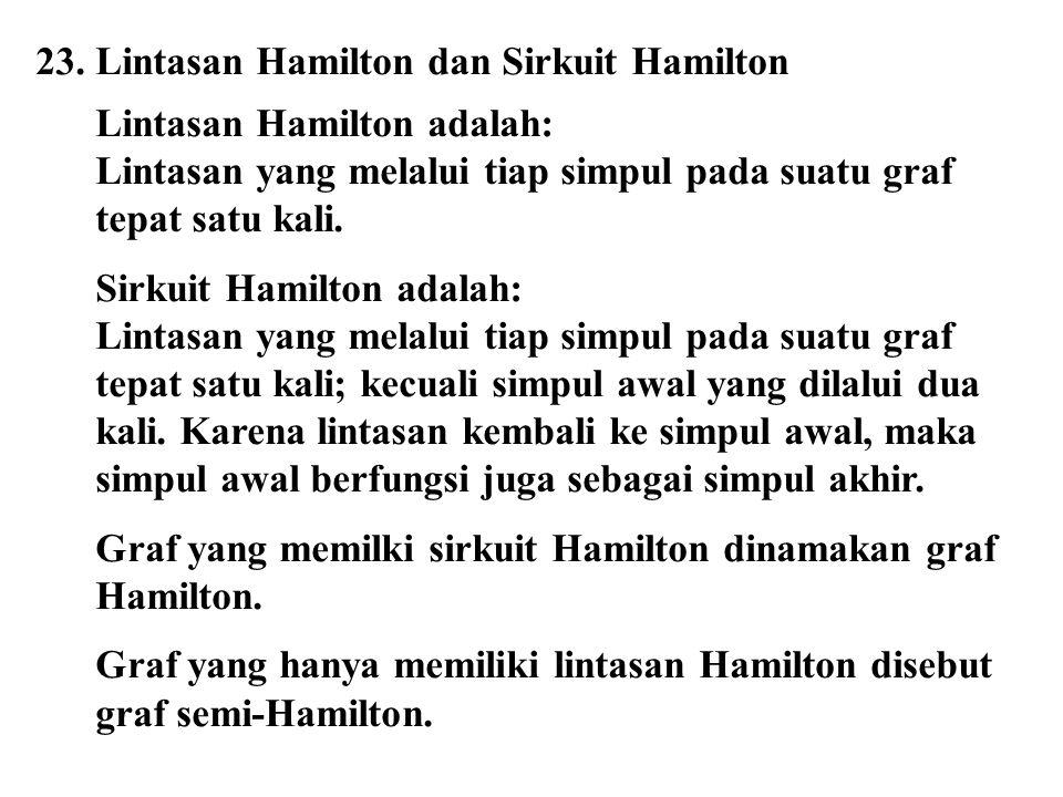 23. Lintasan Hamilton dan Sirkuit Hamilton