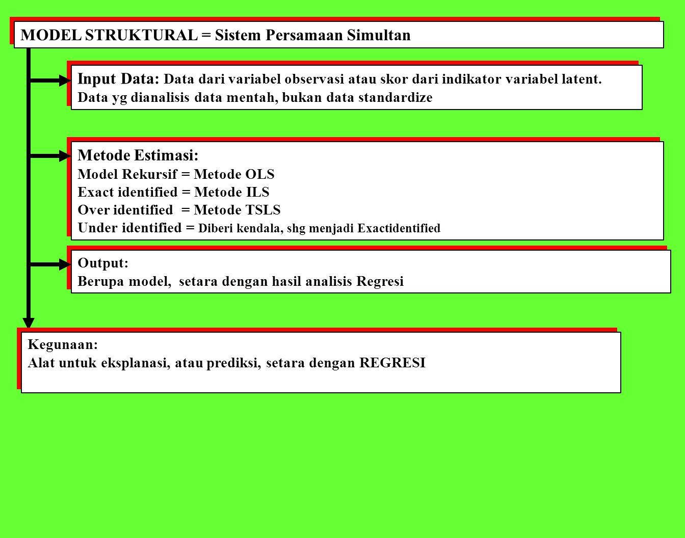 MODEL STRUKTURAL = Sistem Persamaan Simultan
