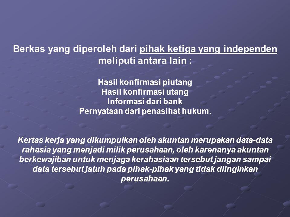 Pernyataan dari penasihat hukum.