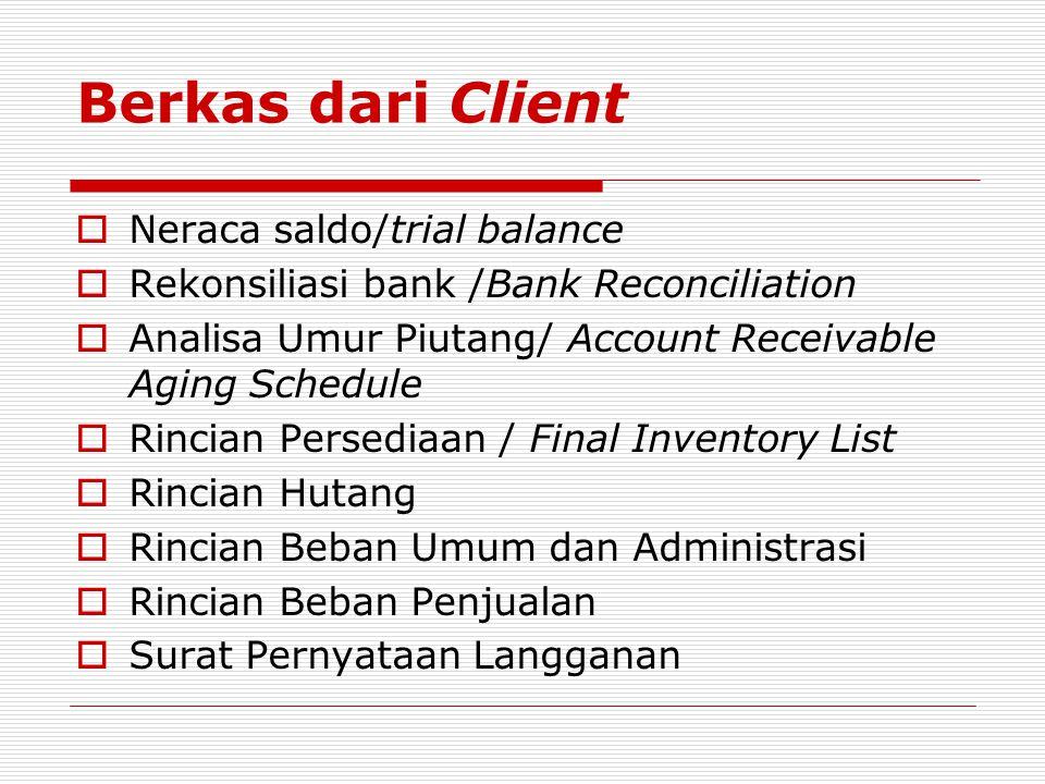 Berkas dari Client Neraca saldo/trial balance