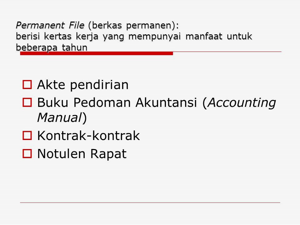 Buku Pedoman Akuntansi (Accounting Manual) Kontrak-kontrak
