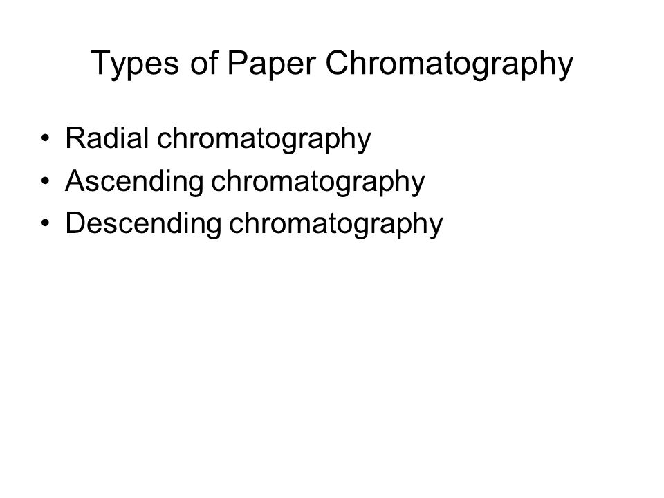 Types of Paper Chromatography