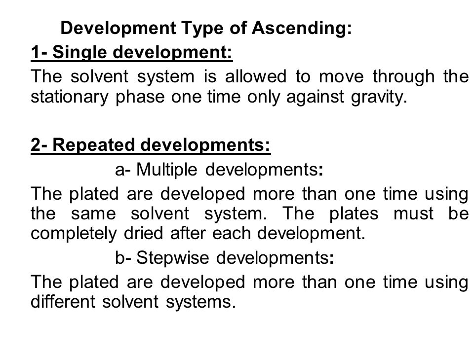 Development Type of Ascending: