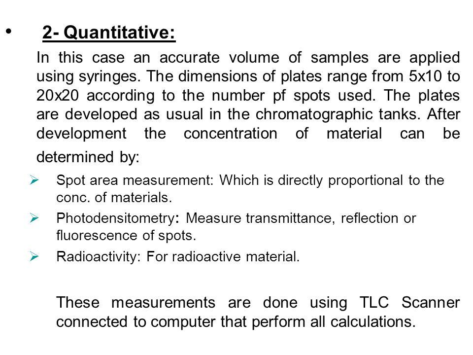 2- Quantitative: