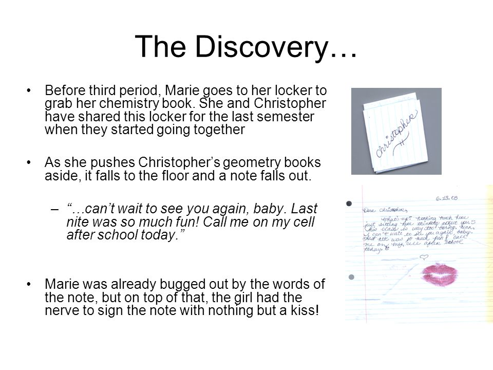 The Discovery…