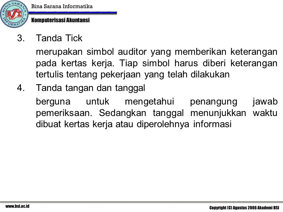 Tanda Tick