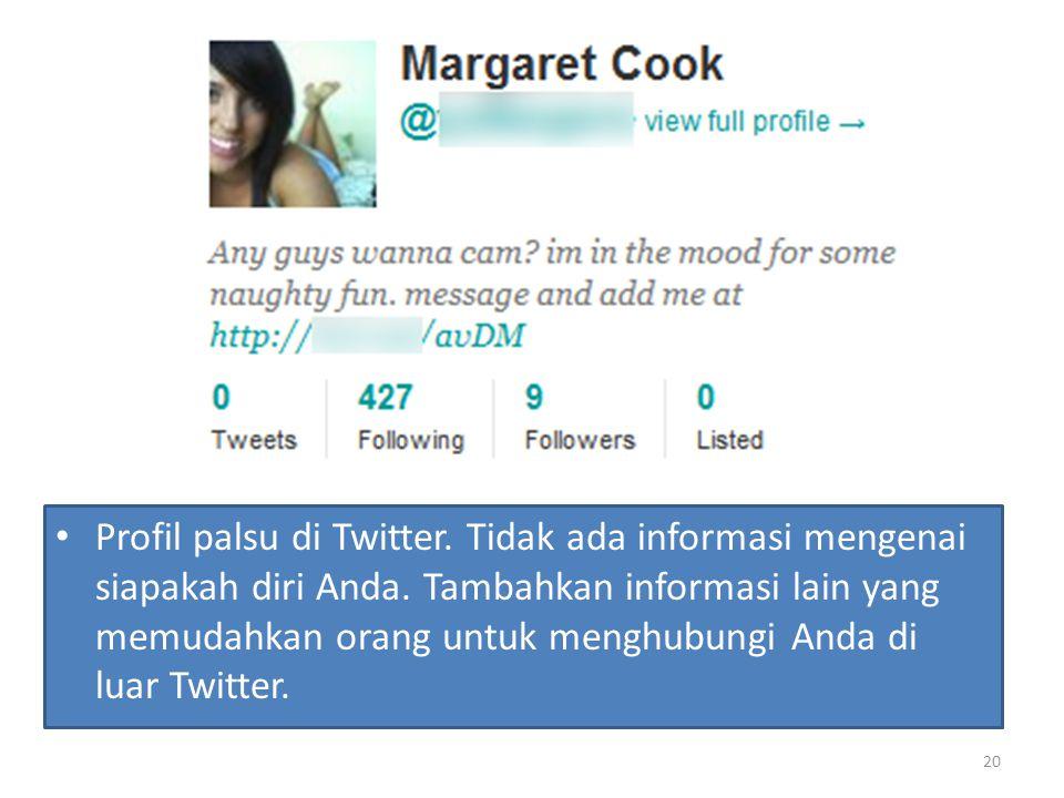 Profil palsu di Twitter