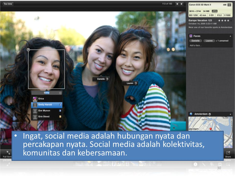 Ingat, social media adalah hubungan nyata dan percakapan nyata