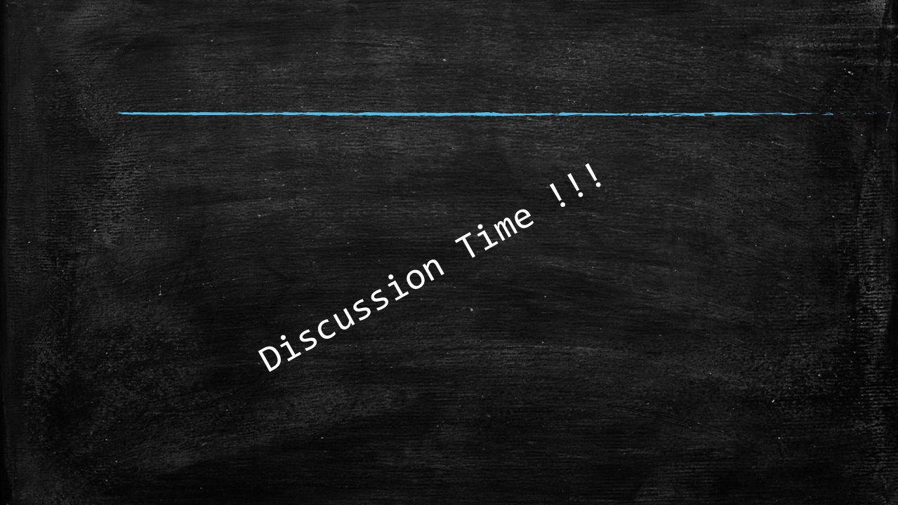 Discussion Time !!!