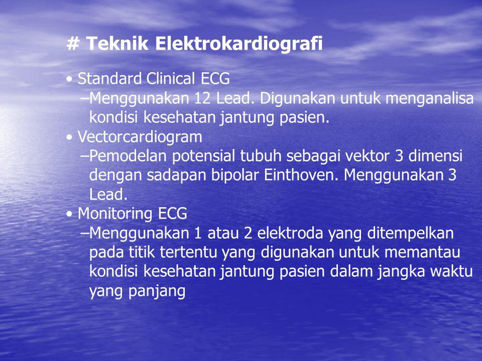 # Teknik Elektrokardiografi