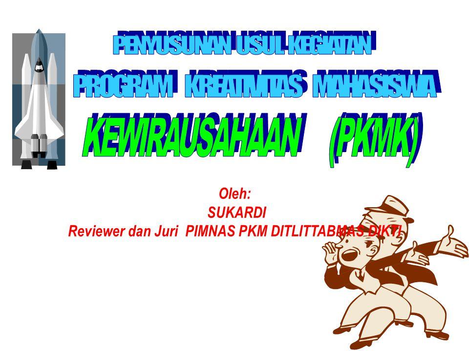 Reviewer dan Juri PIMNAS PKM DITLITTABMAS DIKTI